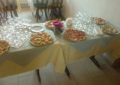 Angerichtet für Gäste